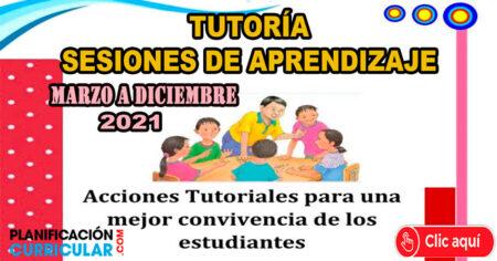 SESIONES DE APRENDIZAJE DE TUTORÍA 2021 MARZO - DICIEMBRE - APRENDO EN CASA