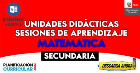 UNIDADES Y SESIONES DE APRENDIZAJE MATEMÁTICA de 1ro a 5to GRADO